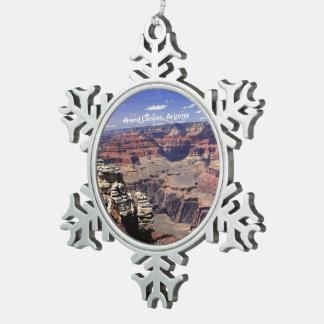 Grand Canyon, Arizona Snowflake Pewter Christmas Ornament