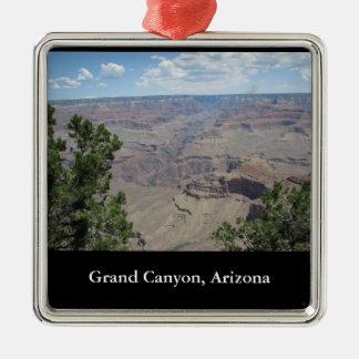 Grand Canyon, Arizona Square Metal Christmas Ornament