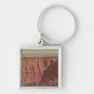 Grand Canyon, Arizona - Sunset on the Painted Silver-Colored Square Keychain