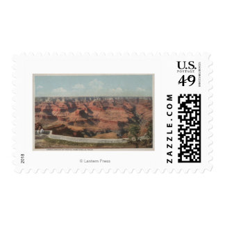 Grand Canyon, Arizona - View of Canyon from Hote Postage