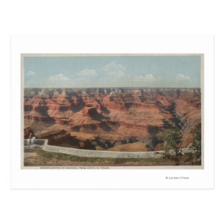 Grand Canyon, Arizona - View of Canyon from Hote Postcard