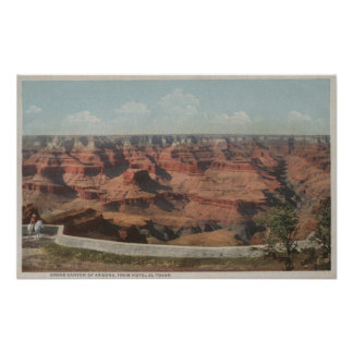 Grand Canyon, Arizona - View of Canyon from Hote Poster