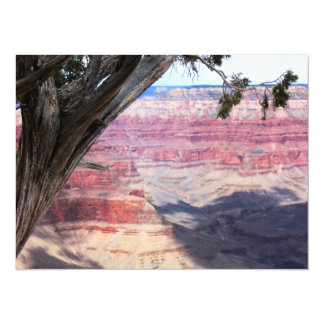 Grand Canyon Beyond The Tree 5.5x7.5 Paper Invitation Card