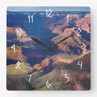 Grand Canyon, Bright Angel Trail Square Wall Clock