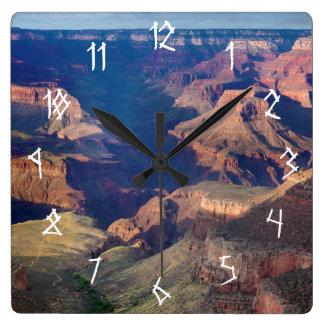 Grand Canyon, Bright Angel Trail Square Wall Clock