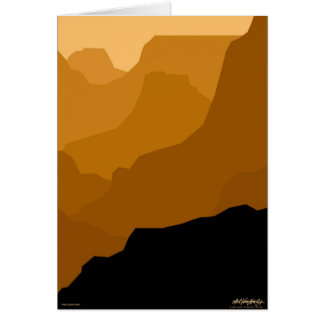 Grand Canyon - brown - Art Gallery Selection Card