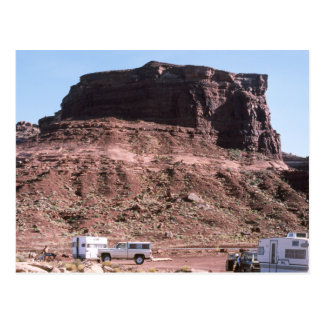 Grand Canyon Campground Campers Rocky Landscape Postcard