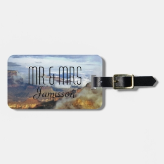 Grand Canyon Clouds Personalized Mr and Mrs Custom