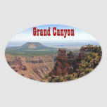 Grand Canyon Desert View Oval Sticker