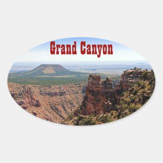 Grand Canyon Desert View Oval Sticker