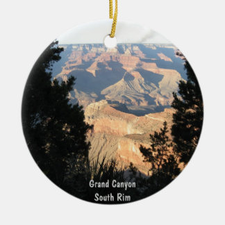 Grand Canyon Double-Sided Ceramic Round Christmas Ornament