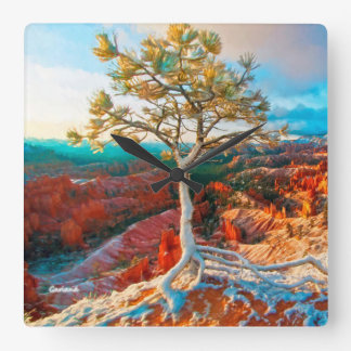 Grand Canyon Evergreen Square Wall Clock