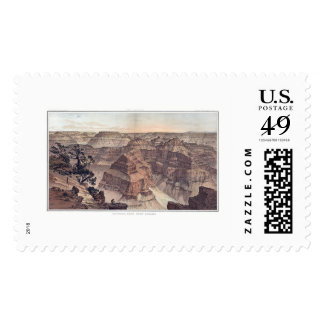 Grand Canyon from Pt. Sublime by Dutton 1882A Postage