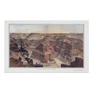 Grand Canyon from Pt. Sublime by Dutton 1882A Poster