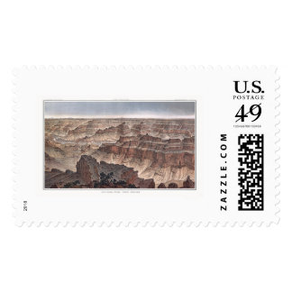 Grand Canyon from Pt. Sublime by Dutton 1882B Postage