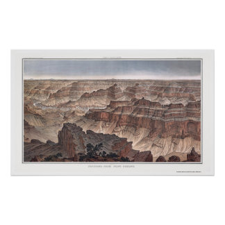 Grand Canyon from Pt. Sublime by Dutton 1882B Poster
