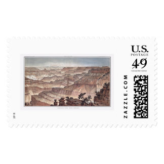 Grand Canyon from Pt. Sublime by Dutton 1882C Postage