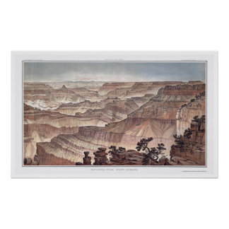 Grand Canyon from Pt. Sublime by Dutton 1882C Poster