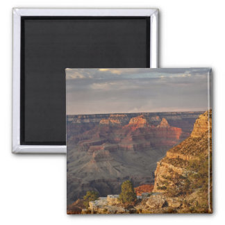 Grand Canyon from the south rim at sunset, 2 2 Inch Square Magnet