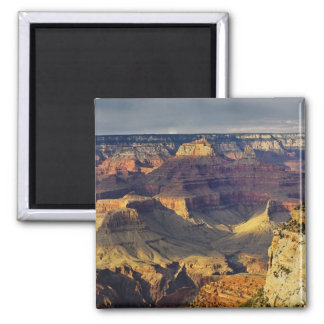 Grand Canyon from the south rim at sunset, 2 Inch Square Magnet
