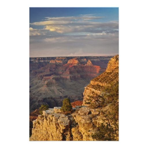 Grand Canyon from the south rim at sunset, 2 Photograph