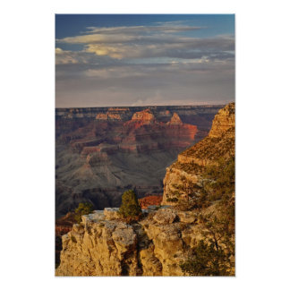 Grand Canyon from the south rim at sunset, 2 Poster