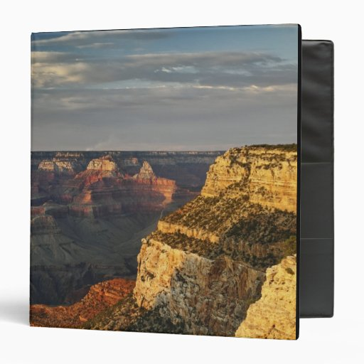 Grand Canyon from the south rim at sunset, 3 3 Ring Binder