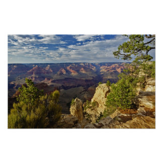 Grand Canyon from the south rim at sunset, 3 Poster