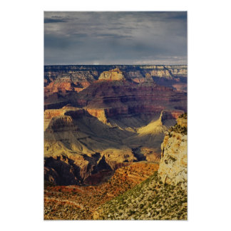 Grand Canyon from the south rim at sunset, Poster