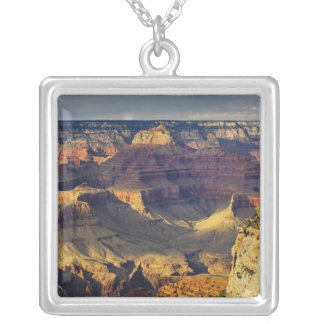 Grand Canyon from the south rim at sunset, Square Pendant Necklace