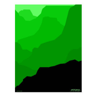 Grand Canyon - green - Art Gallery Selection Postcard