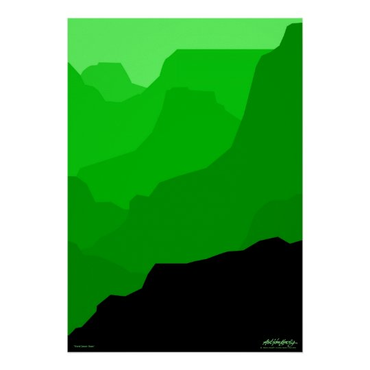 Grand Canyon - green - Art Gallery Selection Poster