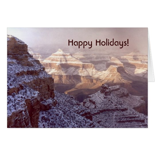 Grand Canyon / Happy Holidays! Card