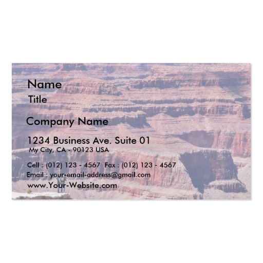 Grand Canyon Hikers Business Card Template