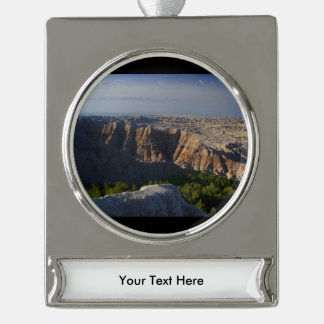 Grand Canyon Landscape Silver Plated Banner Ornament
