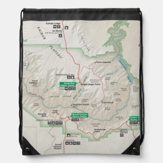Grand Canyon map backpack