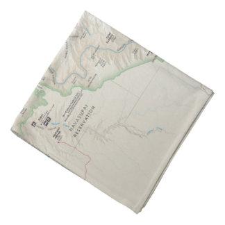 Grand Canyon map bandana