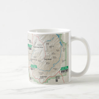 Grand Canyon map mug