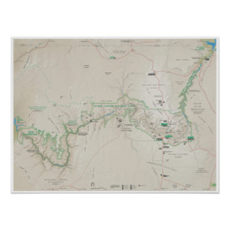 Grand Canyon map poster