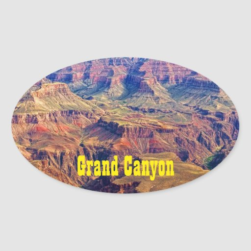 Grand Canyon Mather Point  Oval Sticker