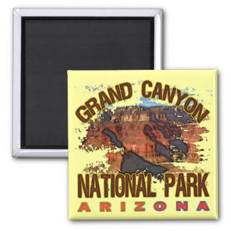 Grand Canyon National Park 2 Inch Square Magnet