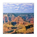 """Grand Canyon National Park Arizona Ceramic Tile<br><div class=""""desc"""">A breathtaking digital painting of the Grand Canyon National Park in Arizona. The rugged red rock and cliffs are in beautiful contrast to the blue sky dappled with white clouds.</div>"""