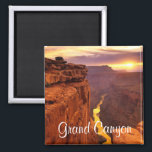 """Grand Canyon National Park Arizona Sunset Magnet<br><div class=""""desc"""">Words can only hope to describe the vision that is the Grand Canyon. Those who see it for the first time often find themselves at a loss for words, and others still say seeing it for the first time is like a religious experience. This fun travel magnet features a beautiful...</div>"""