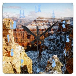 Grand Canyon National Park, Arizona, USA Square Wallclocks