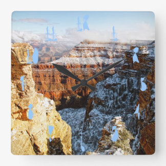 Grand Canyon National Park, Arizona, USA Square Wall Clock