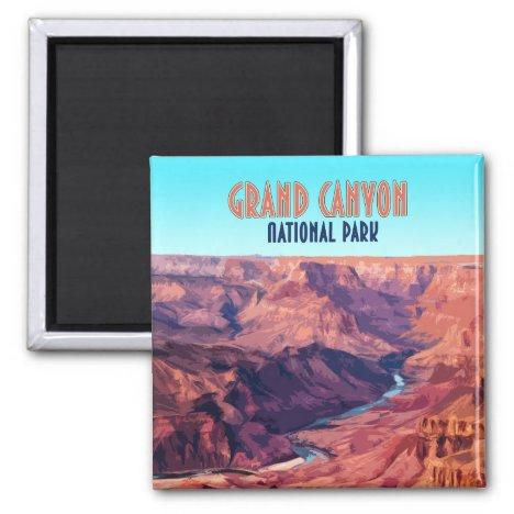 Grand Canyon National Park Arizona Vintage Magnet