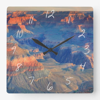 Grand Canyon National Park, AZ Square Wall Clock