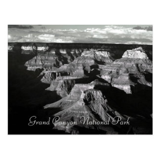 Grand Canyon National Park Black and White Post Postcard