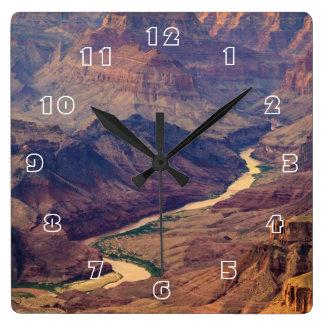Grand Canyon National Park Square Wall Clocks