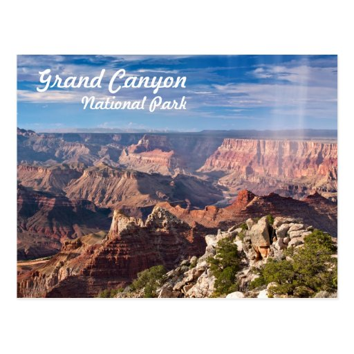 Grand Canyon National Park during a rainshower Post Card